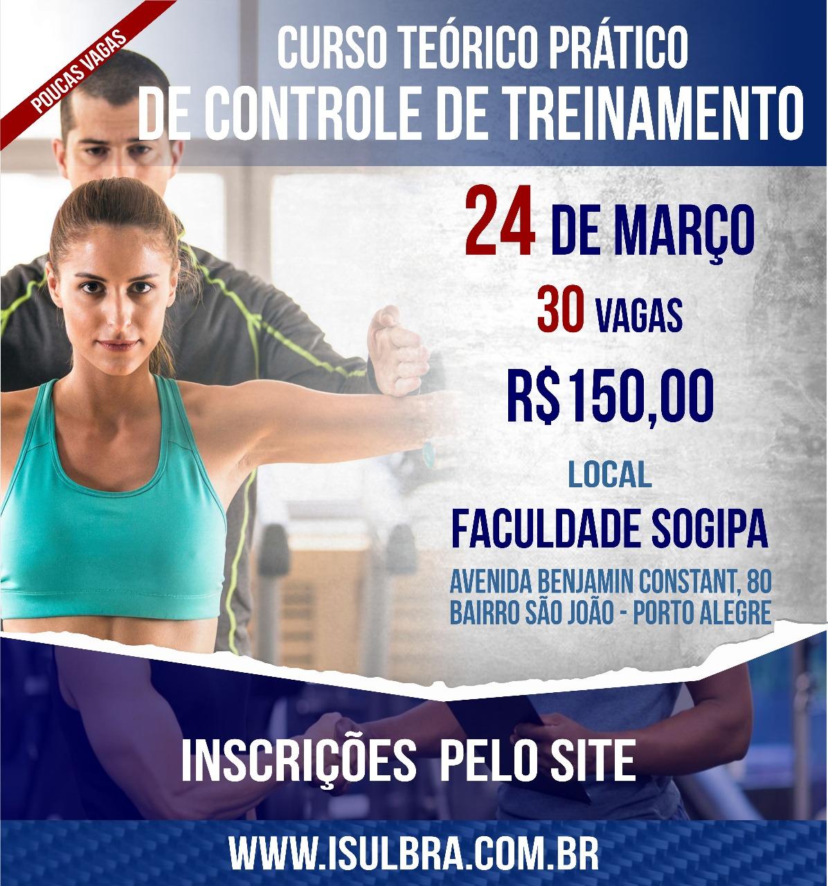 Curso para CURSO TEÓRICO/PRÁTICO DE CONTROLE DE TREINAMENTO