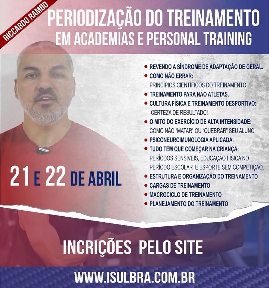 Curso para Periodização do Treinamento para Academias e Personal Training