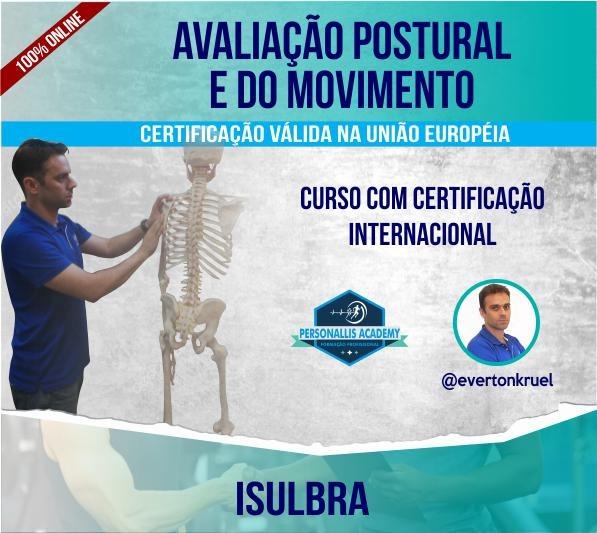 Curso para Avaliação Postural e do Movimento - Certificado Brasil/União Europeia