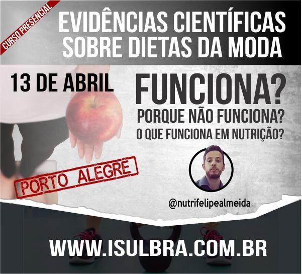 Curso para Atualização sobre Evidências científicas das dietas da moda - Com Nut. Felipe Almeida