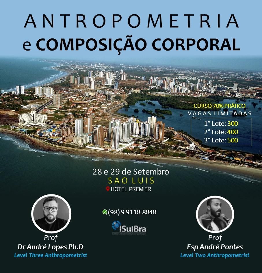 Curso para Certificação em Avaliação Antropométrica e Composição Corporal - São Luis MA - Turma 2