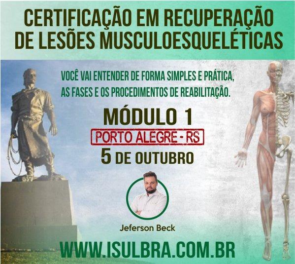 Curso para Certificação ISulBra em Reabilitação e Recuperação de Lesões Musculoesqueléticas