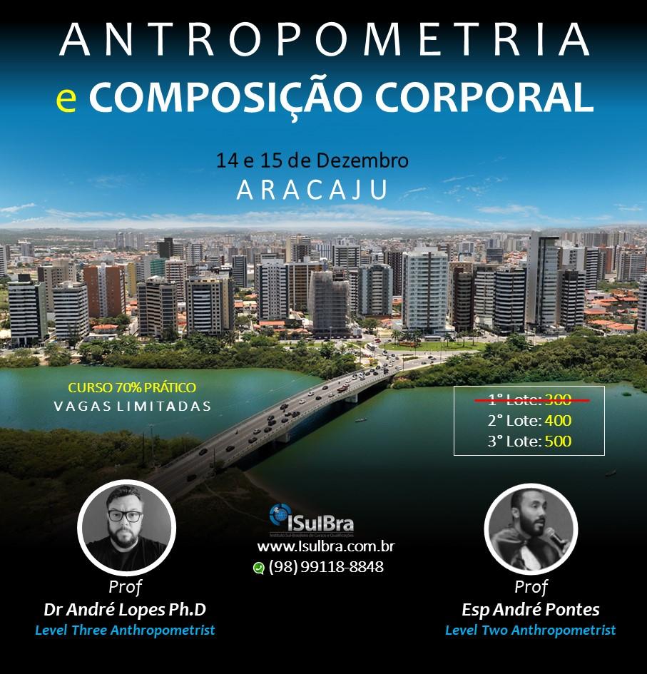 Curso para Certificação em Avaliação Antropométrica e Composição Corporal - ARACAJU-SE