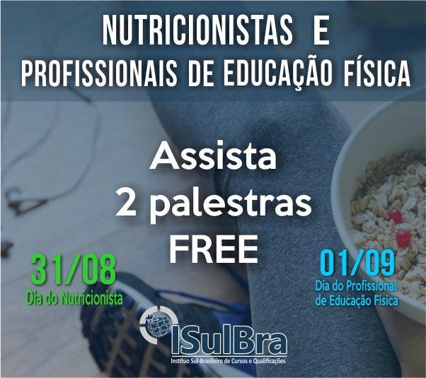 Curso para Palestras - Dia dos profissionais de Nutrição e Educação Física