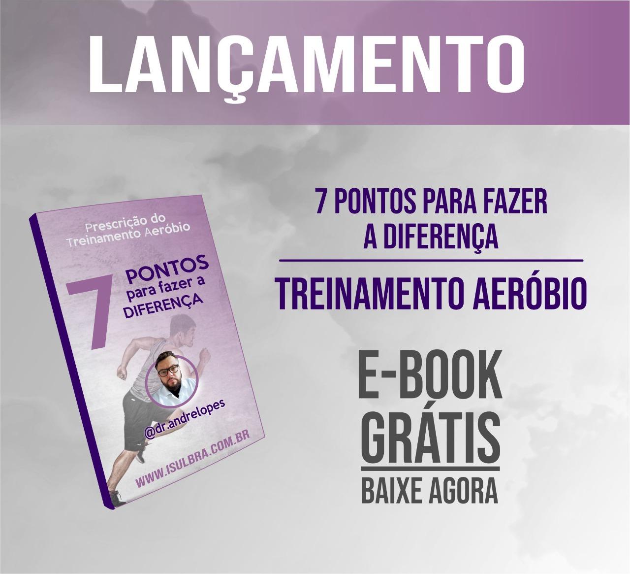 Curso para E-BOOK 7 PONTOS PARA O TREINAMENTO AERÓBIO